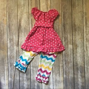 Other - Chevron & Polka Dot Boutique Outfit